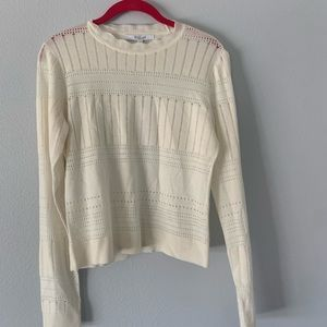 Derek Lam Ivory Knit Top